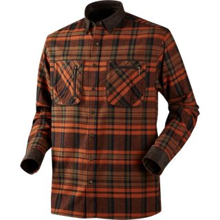 Härkila Pajala Hemd Burnt Orange Check XL